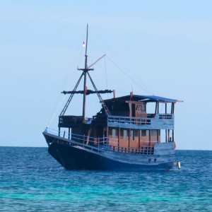 Diving cruise in the Komodo National Park of Indonesia