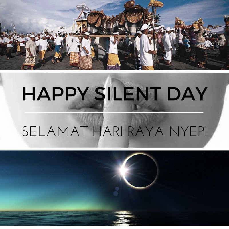 Happy Silent Day in Bali