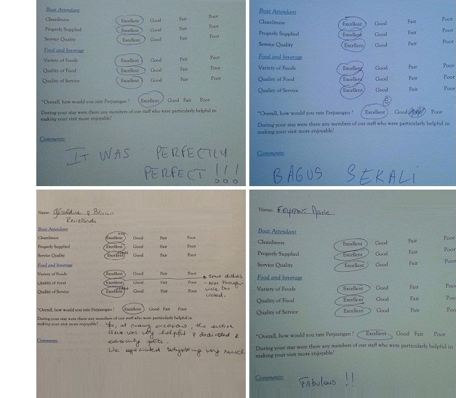 Nyaman Group - Perjuangan cruise boat - comments from guests