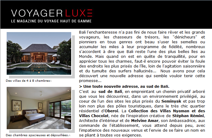 Nyaman Group Indonesia - Press - Voyager Luxe part 2