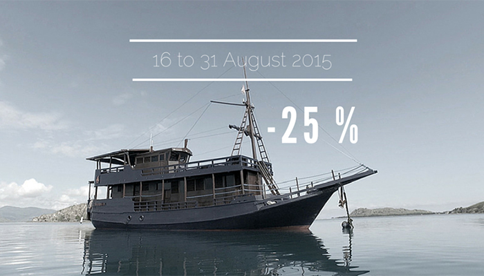 Discover our tremendous offer: 25% on Perjuangan boat!