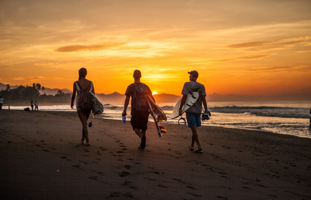 Surf lesson in Bali